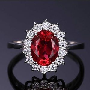 Sterling 2.5 CT Ruby Ring